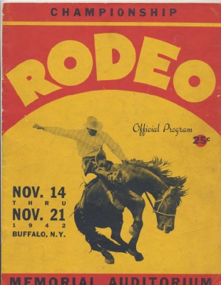 1942 Buffalo NY Rodeo Program Featuring Roy Rogers
